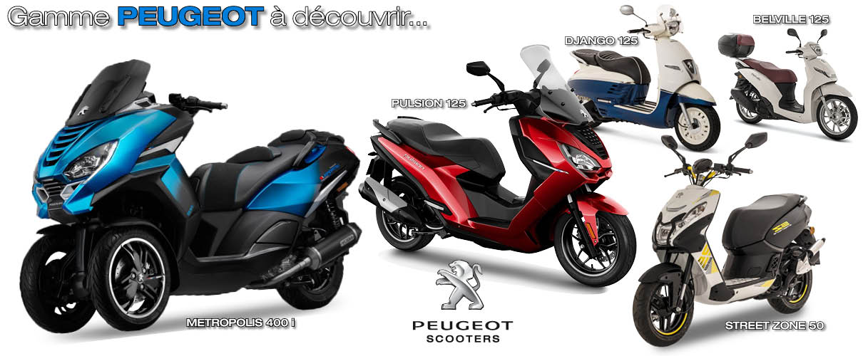 Gamme Peugeot scooter 2019